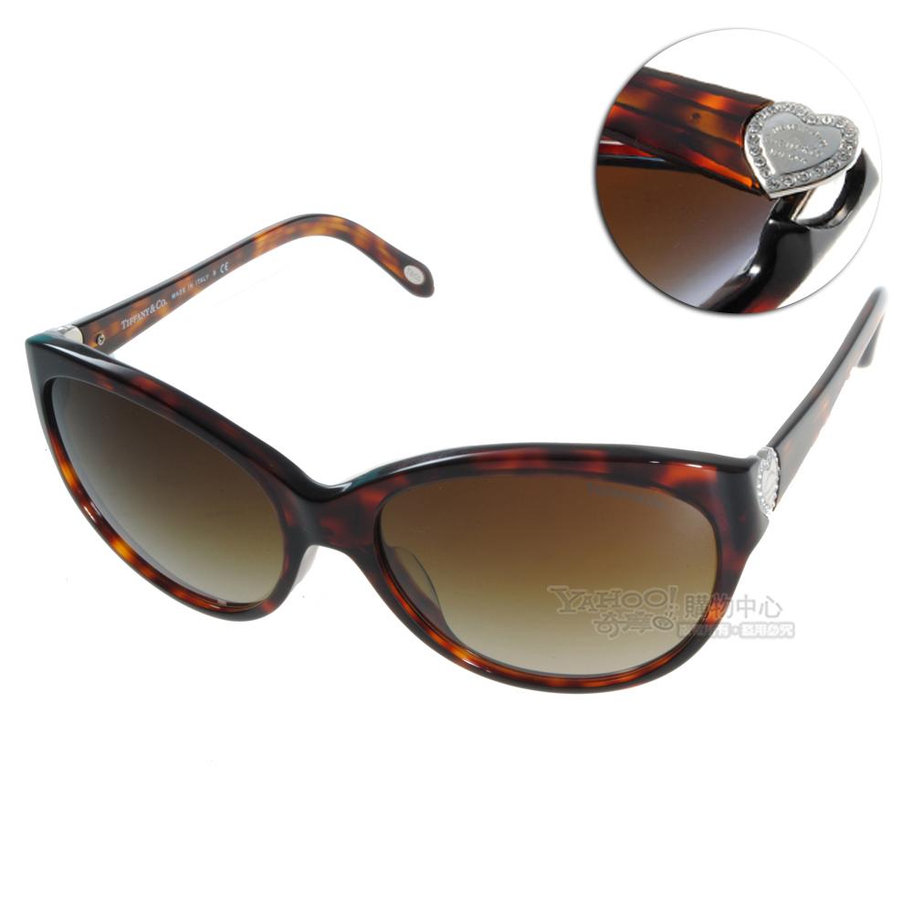 Tiffany&CO.太陽眼鏡 經典水鑽心型款/琥珀#TF4065BA 80023B