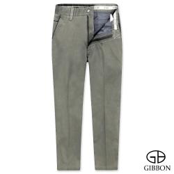 GIBBON slim fit型男修身平口休閒褲‧卡其綠30-42