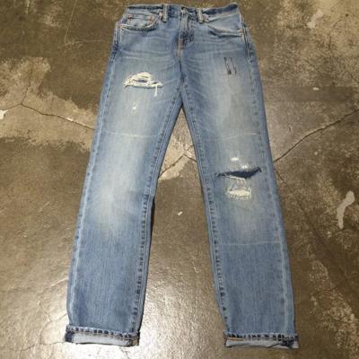 Levis-511-淺藍刷白水洗修身窄管丹寧牛仔褲