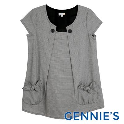 Gennies專櫃-造型領經經典格紋上衣(C3A64)三色可選
