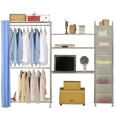 巴塞隆納─W2型90+90+D電視衣櫥置物櫃