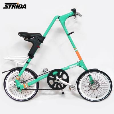 STRiDA 速立達 18吋SX 折疊碟剎單車(三角形單車)截色橘-薄荷綠