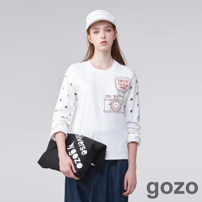 gozo 玩趣攝影波卡點上衣(二色)