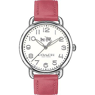 COACH 復古圓形銀殼女腕錶/ 14502717