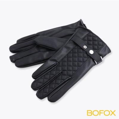 BOFOX 寶狐質感水洗皮觸控手套(菱格紋)