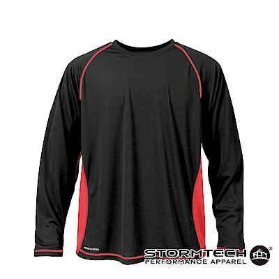 【加拿大STORMTECH】SAT036運動排汗透氣長衫-黑紅