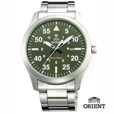 ORIENT 東方錶 SP 系列 飛行運動石英錶-綠色/44mm