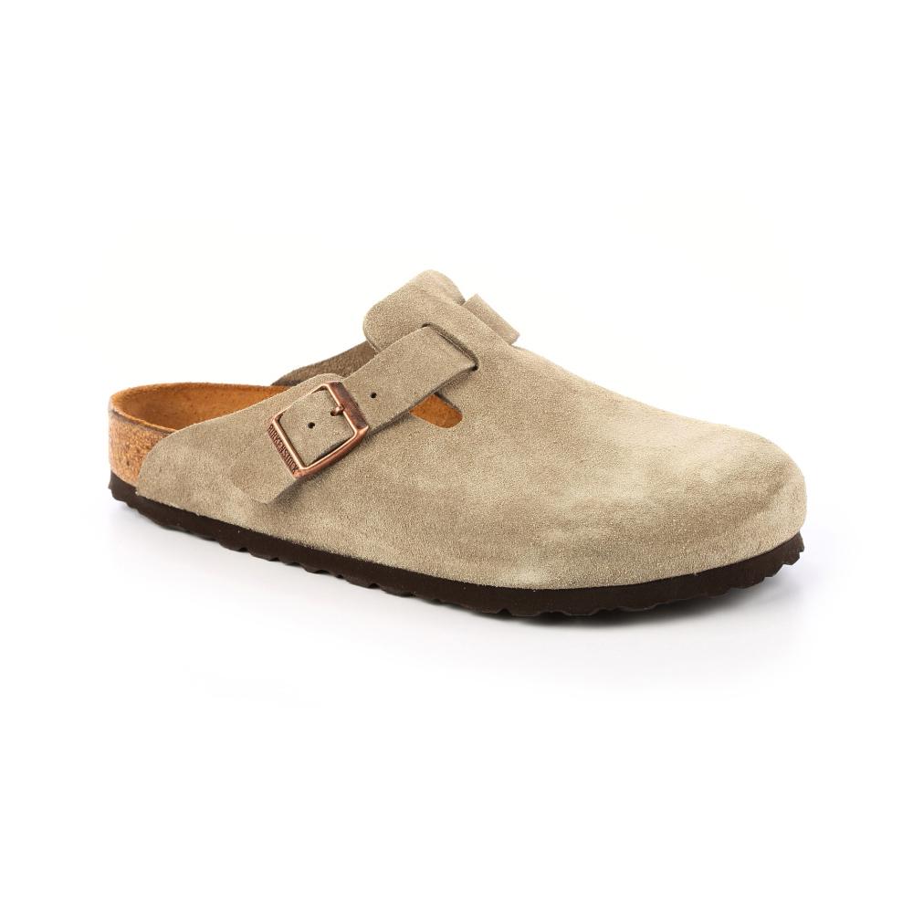 勃肯BIRKENSTOCK 060461。波斯頓 包頭拖鞋(麂皮/卡其色)