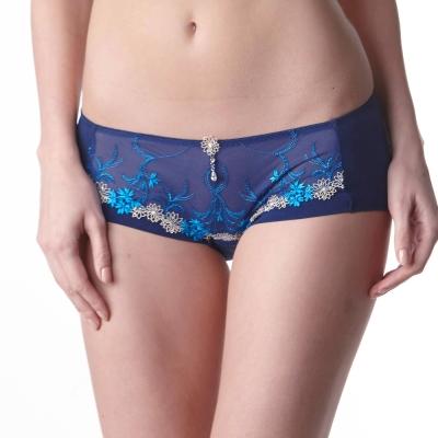 LADY 瑪格麗特系列 低腰平口褲(亮光藍)