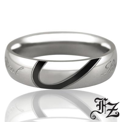 FZ 甜蜜愛戀白鋼戒指-男版(戒圍可選)