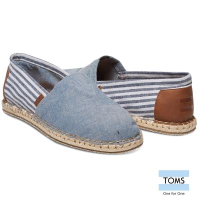 TOMS 海洋線條懶人鞋-男款