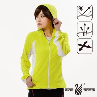 【遊遍天下】女版吸濕排汗透氣抗UV連帽外套GJ10010黃色