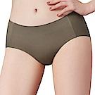思薇爾 I LOVE U SO SOFT系列M-XL素面中低腰平口無痕內褲-海藻綠