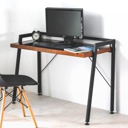Home Feeling 工業風強化玻璃電腦桌/工作桌/書桌-110x49X72cm