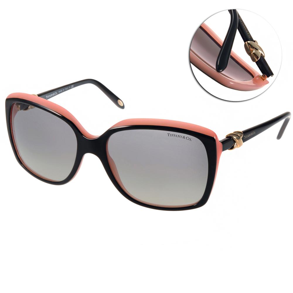 Tiffany&CO.太陽眼鏡 經典大框/黑-粉紅#TF4076 81573C