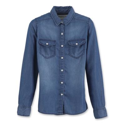 Hang Ten - 女裝 - 經典丹寧襯衫 - 深藍