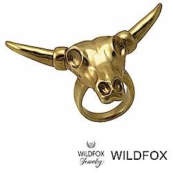 Wildfox Couture 美國品牌 金色公牛戒指 立體公牛頭戒指