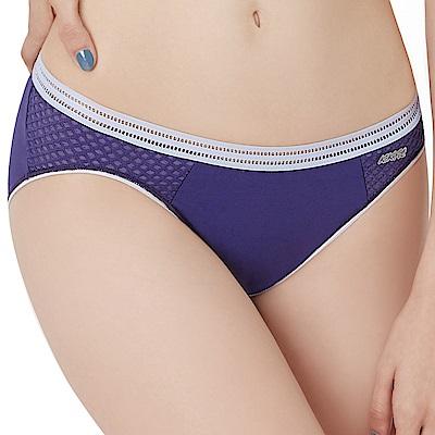 思薇爾 K.K Fit i動洞系列M-XXL素面低腰三角內褲(絳紫色)