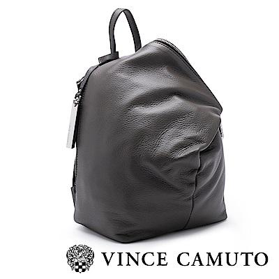 Vince Camuto 柔軟皮革金屬扣斜蓋式後背包-灰色