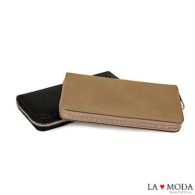 La Moda 經典設計款必備單品 低調奢華多功能長夾(共2色)
