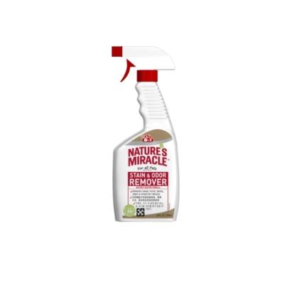 美國8in1 自然奇蹟-天然酵素去漬除臭噴劑(無香味) 24oz 2入組