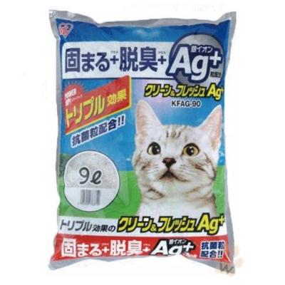 IRIS AG+奈米銀貓砂9L 3包組