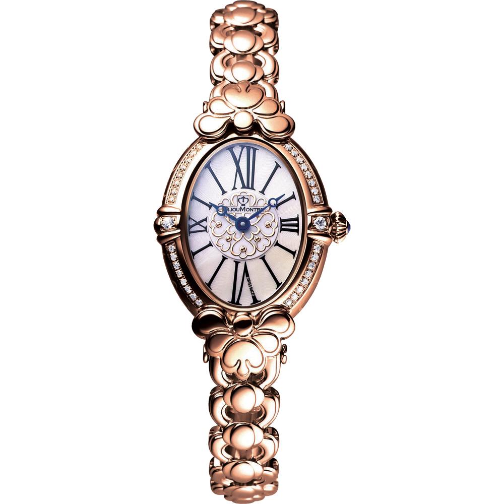BijouMontre 寶爵 凱薩琳鑽錶-玫塊金/25x35mm