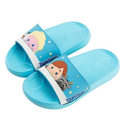 迪士尼童鞋 TsumTsum 冰雪奇緣 立體防水拖鞋-藍