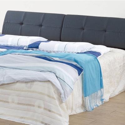 品家居-羅拉5尺耐磨皮革雙人床頭箱-152x33x