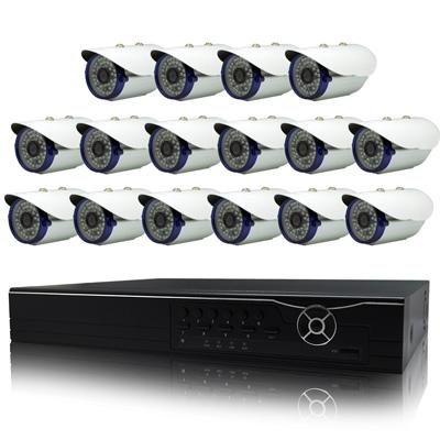 奇巧 16路AHD數位高清遠端監控套組(含雙模切換48燈百萬攝影機x16)