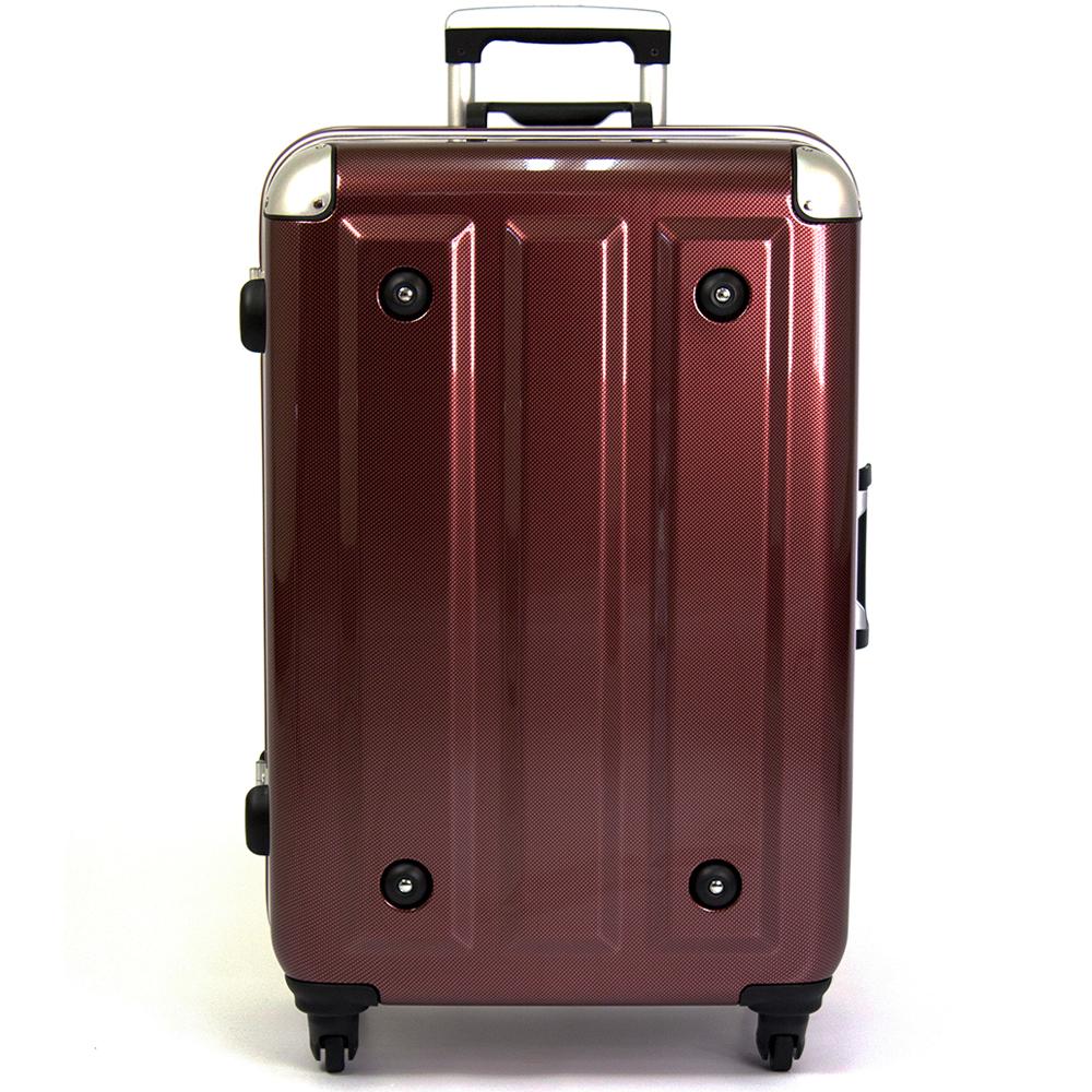 【aaronation】26吋-MOM日本品牌 PC鋁框行李箱(MF1008-26-酒紅)