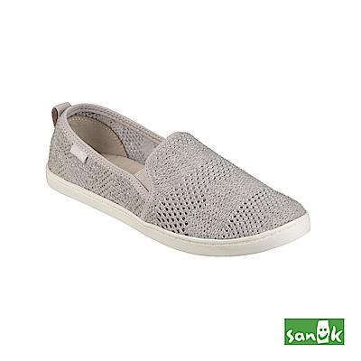 SANUK 超柔軟針織休閒鞋-女款(灰色)