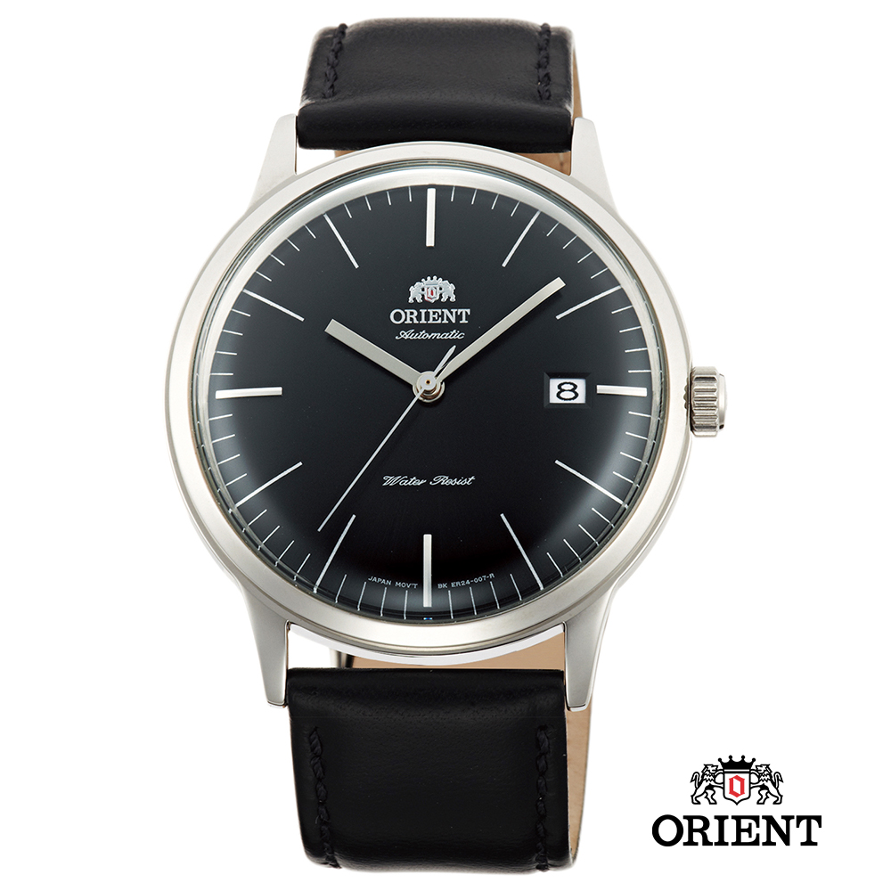 ORIENT 東方錶 DATE Ⅱ機械男錶-黑/40.5mm
