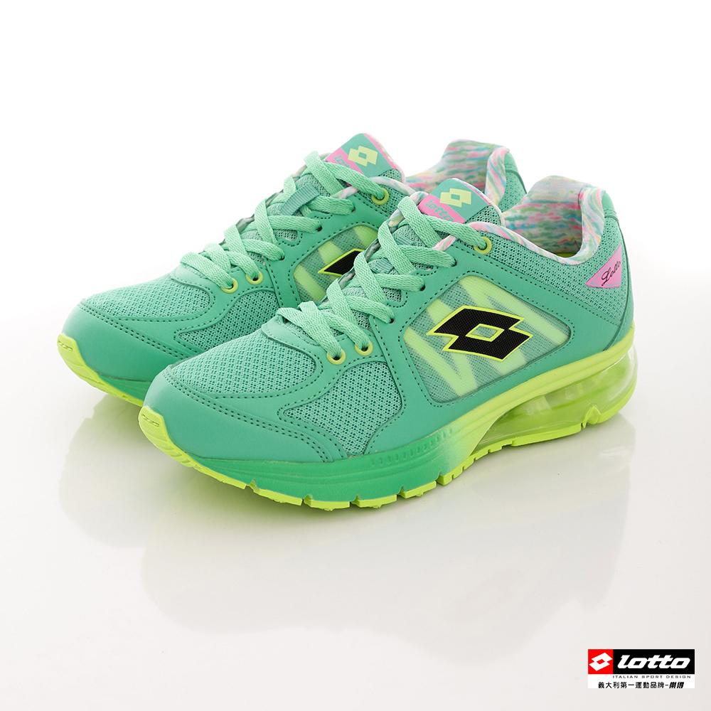 LOTTO女款大氣墊雙重避震花漾炫彩跑鞋綠LT6AWR3095