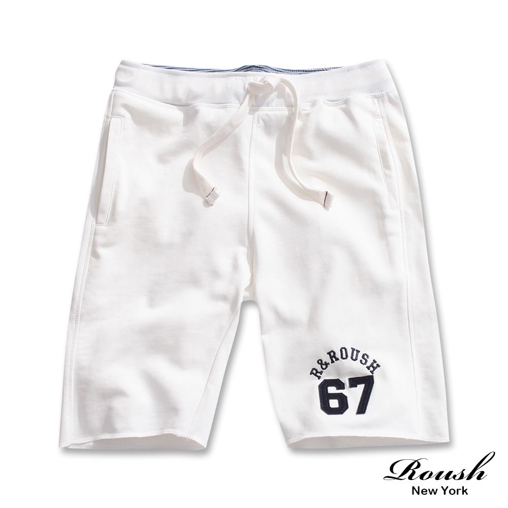 ROUSH 67 貼布高磅數水洗棉質短褲(3色)