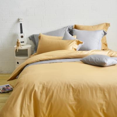 Cozy inn 極致純色-焦糖棕-300織精梳棉四件式被套床包組(加大)