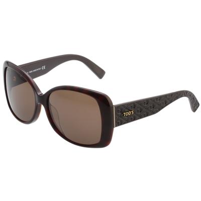 TOD'S 方框 粗版鏡腳 太陽眼鏡 (琥珀色)TO9085