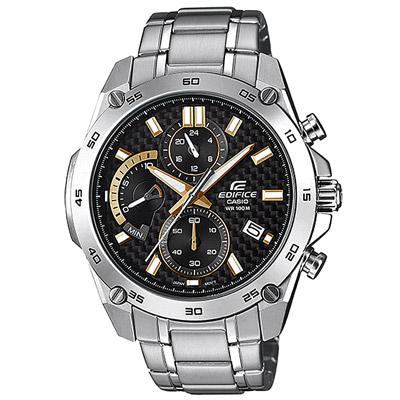 EDIFICE 速度之星三眼賽車手錶(EFR-557CD-1A9)-/46.7mm