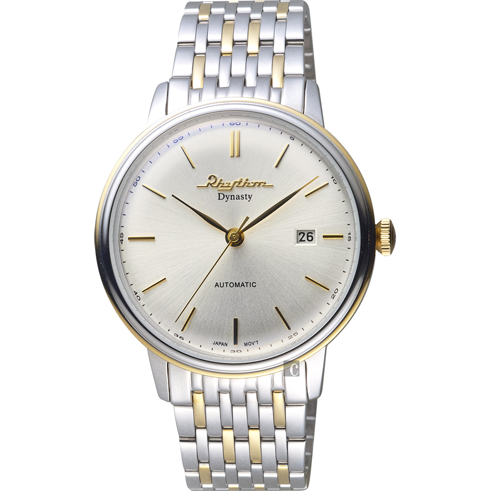 RHYTHM日本麗聲 Dynasty紳士機械錶-銀/40mm AD1602S03