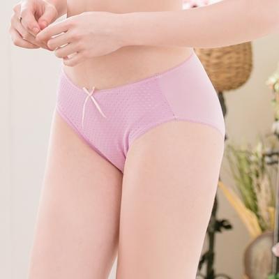可蘭霓Clany  透氣點點M-XL內褲 優雅紫