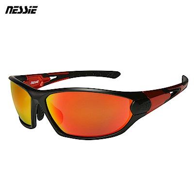 Nessie 尼斯眼鏡 專業運動偏光太陽眼鏡-越野黑橘