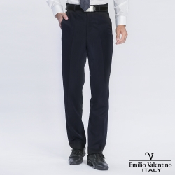 Emilio Valentino 范倫提諾精品平面西褲-藏青