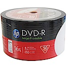 HP 16X 純白滿版可印White Printable DVD-R 100片