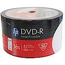 HP 16X 純白滿版可印White Printable DVD-R 100片