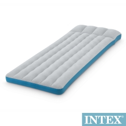 INTEX 單人野營充氣床墊/露營睡墊-寬72cm (灰藍色) (67998)