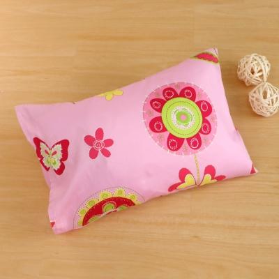 鴻宇HongYew 美國棉防蹣抗菌 粉紅花園-兒童透氣多孔纖維枕