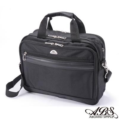 ABS愛貝斯 輕量簡約 可擴充容量 多格層15吋筆電商務公事包(百搭黑)02-030