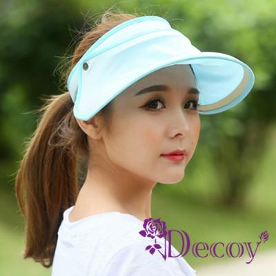 Decoy 機能透氣 防曬彈性掀蓋遮陽帽 淺藍