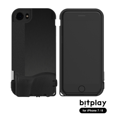 bitplay SNAP!8 iPhone7/8 (4.7吋)專用一秒變單眼相機殼 髮絲黑