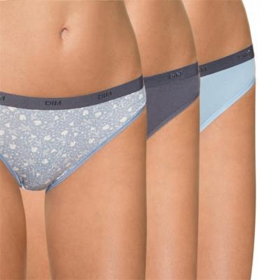 法國DIM-Pockets「旅行輕便-彈力棉」系列三角褲3件組-夢幻藍